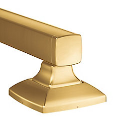 Voss 12-Inch Designer Grab Bar in Brushed Gold