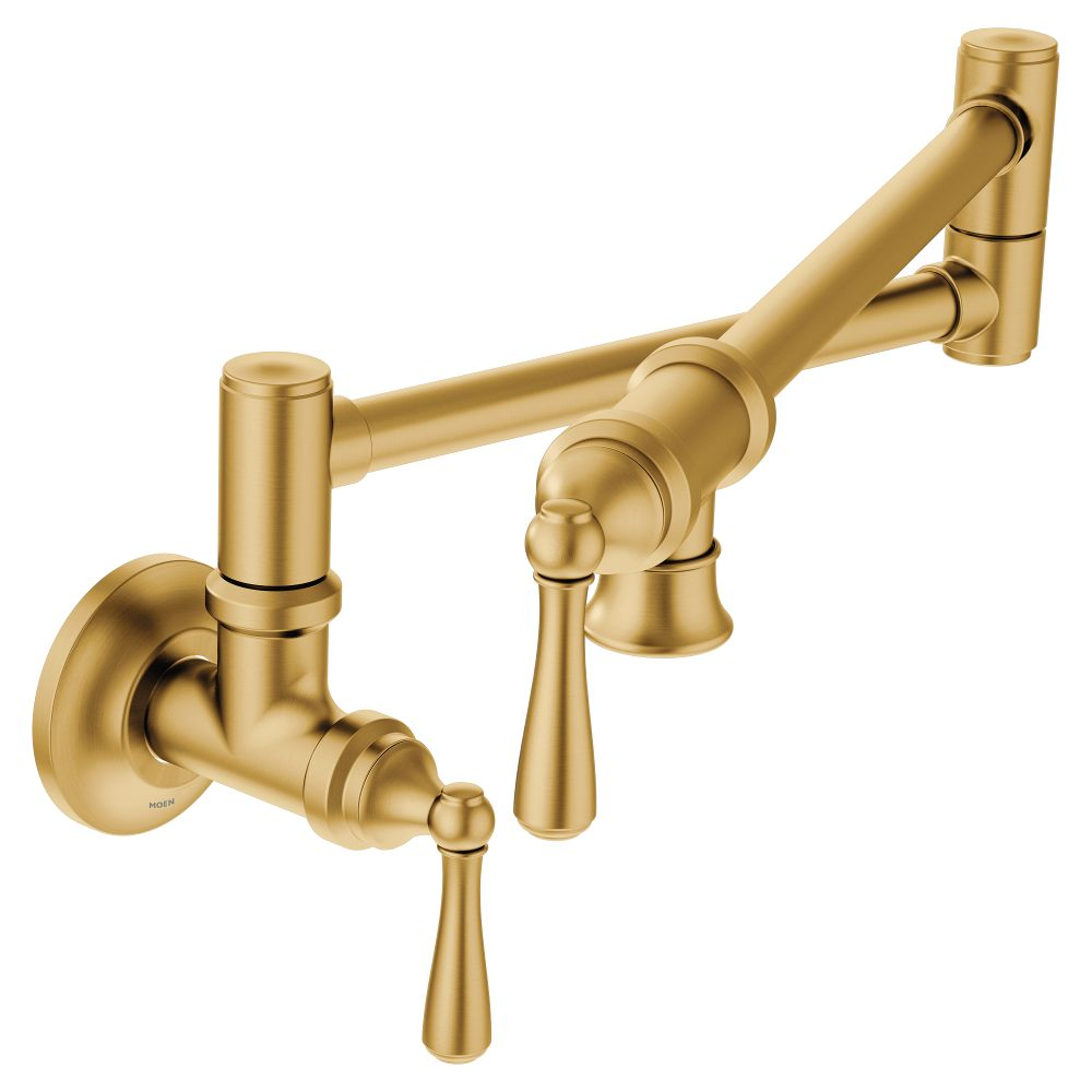 Moen Traditional Wall Mounted Swing Arm Potfiller in Brushed Gold