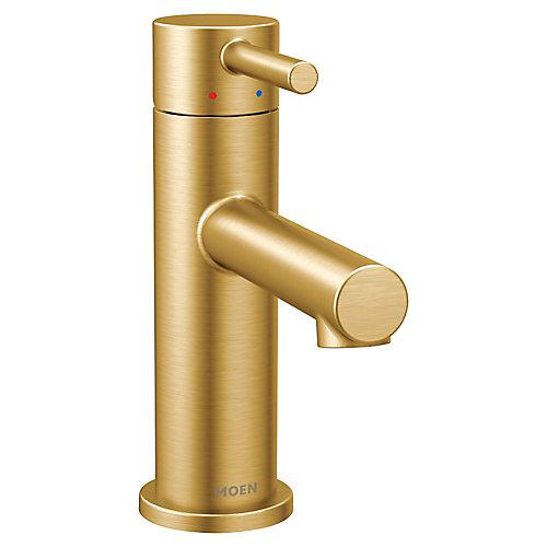 Robinet de salle de bains monotrou monotrou en or brossé