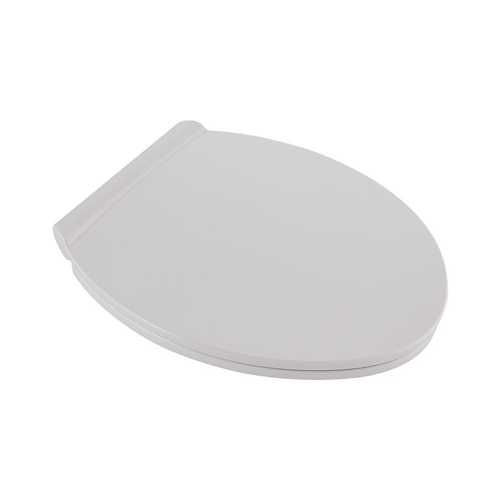 Fluent Round Slow Close Front Toilet Seat in White