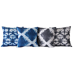 Couture Shibori 18-inch x 18-inch Decorative Cushion