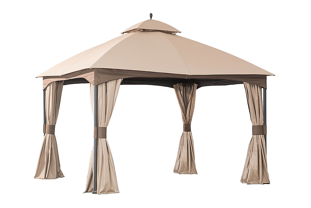 Turnberry 10-inch x 12-inch Gazebo with Mosquito Netting and Private Curtain