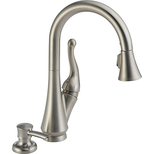 Peerless Talbott Single Handle Pull Down Kitchen Faucet With Soap