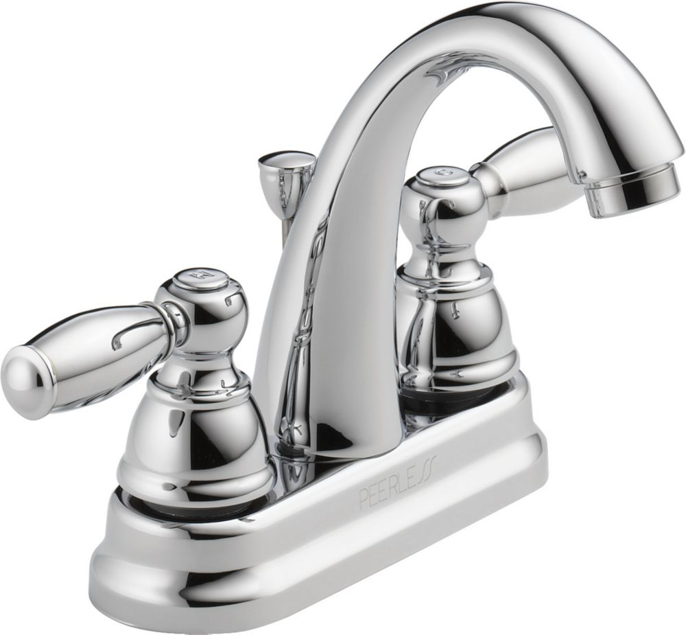Peerless Two Handle Lavatory Faucet, Chrome