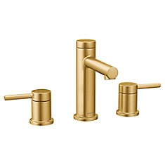 Align 8-Inch Widespread 2-Handle Bathroom Faucet Trim Kit in Brushed Gold (Valve Not Included)