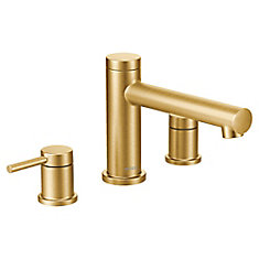 Align 2-Handle Deck Mount Roman Tub Faucet Trim Kit in Brushed Gold (Valve Not Included)