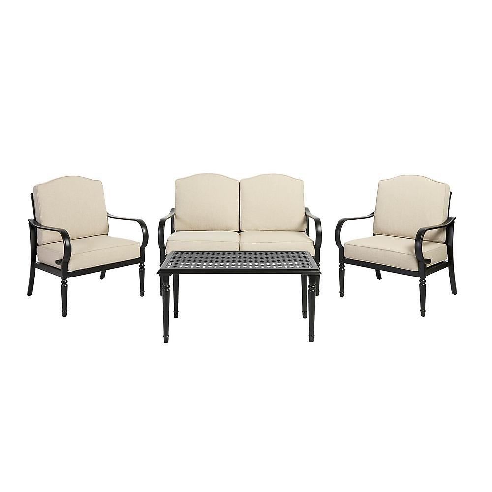Salon de jardin avec sièges profonds Laurel Oaks, 4 pièces