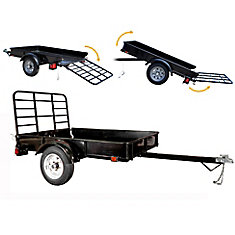 4ft x 6ft Multi Purpose Utility Trailer Kit - Black Powder Coated