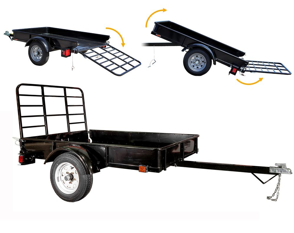 DK2 4ft x 6ft Multi Purpose Utility Trailer Kit - Black Powder Coated