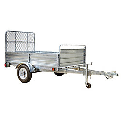 DK2 5ft x 7ft Multi Purpose Utility Trailer Kits - Galvanized - WITH DRIVE UP GATE