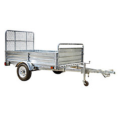 5ft x 7ft Multi Purpose Utility Trailer Kits - Galvanized - WITH DRIVE UP GATE