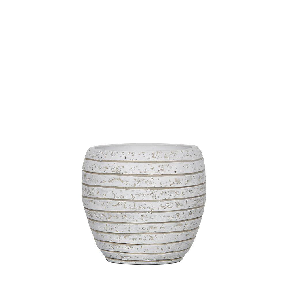 Home Decorators Collection Vase elegant row III 6.1x6.1x5.9 inch ivory