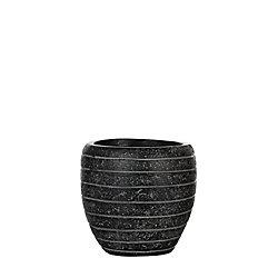Home Decorators Collection Vase elegant row III 6.1x6.1x5.9 inch black