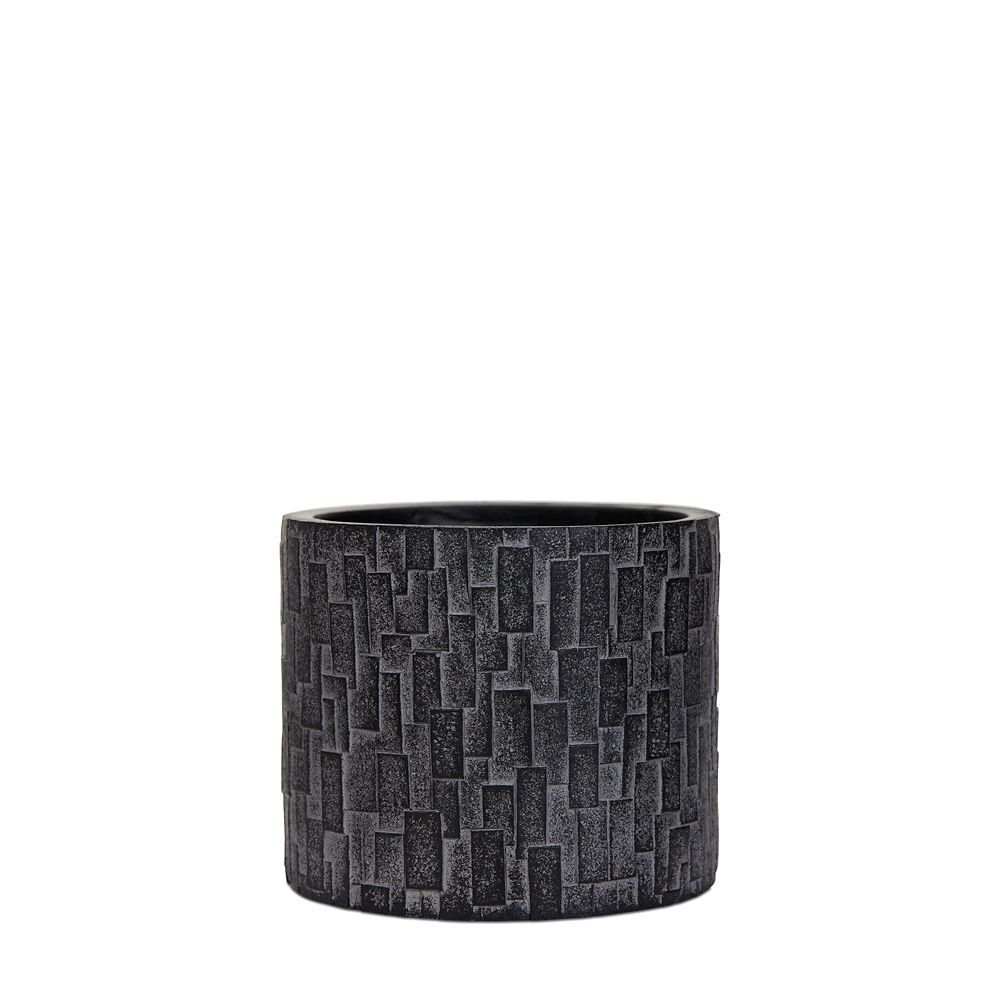 Home Decorators Collection Vase cylinder III stone 6.5x6.5x6.1 inch black