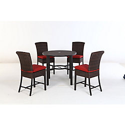 Hampton Bay Harper Creek 5-Piece Patio High Dining Set