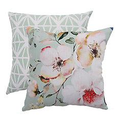 Pillow - 20x20 Faye Floral Print / Diamond Frenzy (2-Pack)