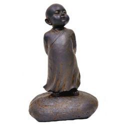 Hi-Line Gift Statue de Bouddha bébé, debout  Couleur: rouille noire