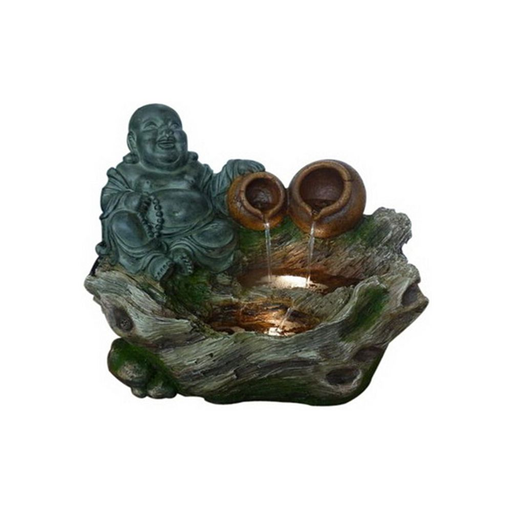 Hi-Line Gift Buddha Sitting with 2 Pouring Jugs Fountain