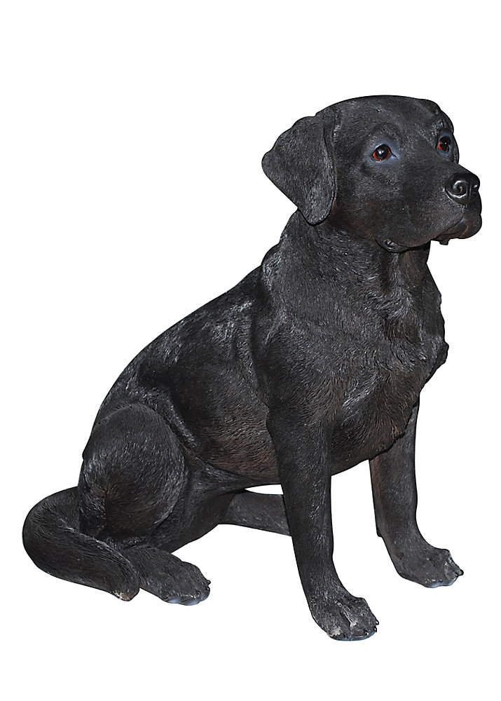Hi Line Gift Black Lab Sitting Statue The Home Depot Canada