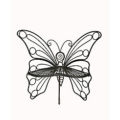 Butterfly Garden Bench, Black Color