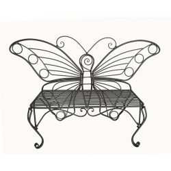 Hi-Line Gift Butterfly Garden Chair, Black Color