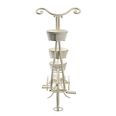 Tricycle Metal Plant Stand for 4 Planters