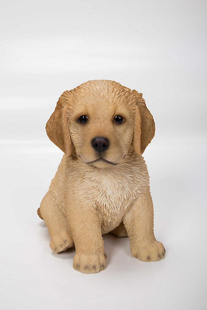 Golden Retriever Puppy Sitting Statue