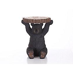 Hi-Line Gift Black Bear Sitting Plant Stand