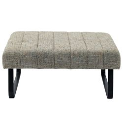 Fabulous Ottoman 38 Inch L Storage Vintage French Fabric Short Links Chair Design For Home Short Linksinfo