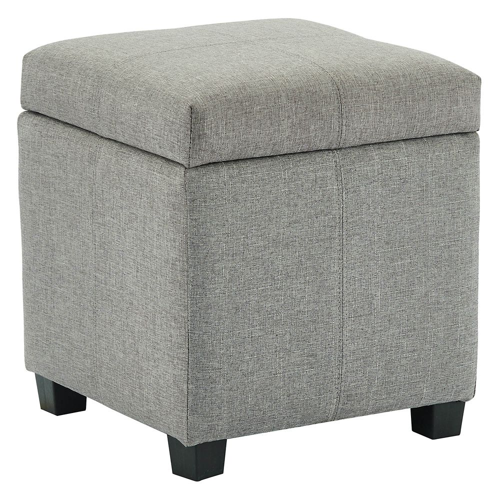 Enjoyable Juno Hinged Lid Storage Ottoman Grey Gmtry Best Dining Table And Chair Ideas Images Gmtryco