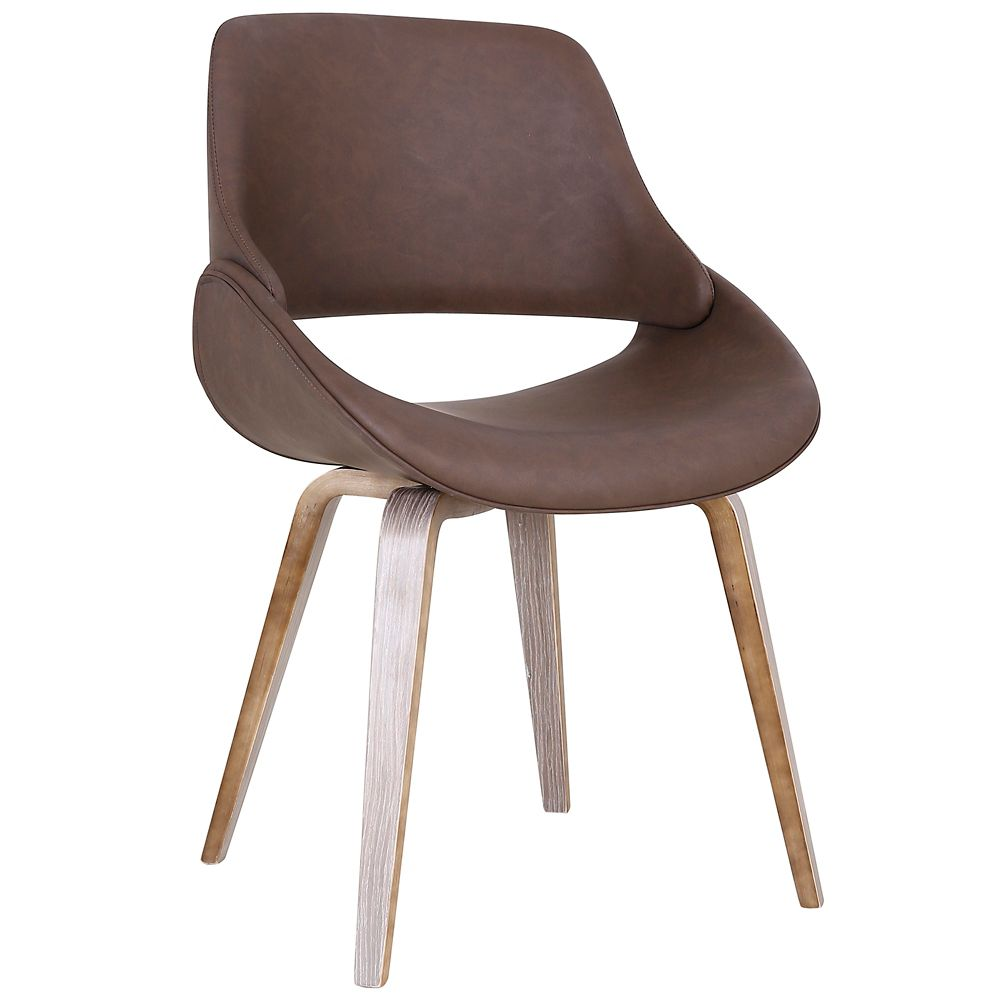 !nspire Serano Mid Century Accent/Side Chair, Brown