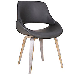 !nspire Serano Mid Century Accent/Side Chair, Charcoal