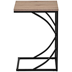 Darcy C-style faux wood metal table