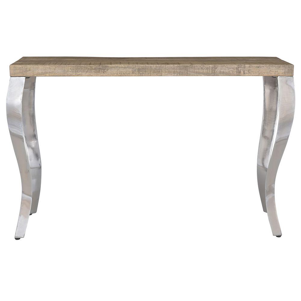 Nspire Natalia Solid Wood Chrome Console Table
