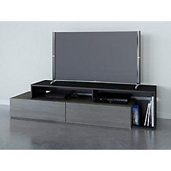 Nexera Damask 72 inch TV Stand, Bark Grey and Black