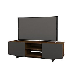Nexera Helix 60-inch TV Stand in Truffle and Charocal
