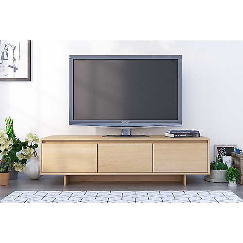 Rustik 60 inch TV Stand, Natural Maple