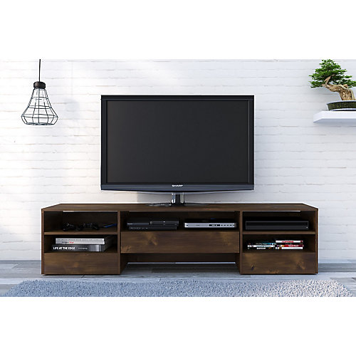 Rustik 72 inch TV Stand with 1 Drawer, Truffle
