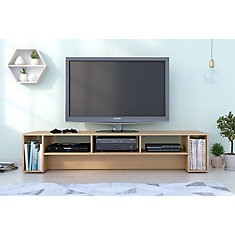 Rustik 72 inch TV Stand, Natural Maple