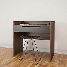 Alibi Vanity/Desk, Walnut and Charcoal