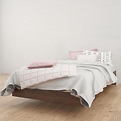 Nexera Alibi Twin Size Platform Bed, Walnut