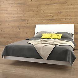 Nexera BLVD Queen Size Headboard and Platform Bed, White