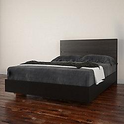 Nexera Opaci-T Full Size Headboard and Platform Bed, Black and Ebony
