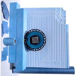 AlinO Kit de douche en ABS de 60 po x 60 po (carré - nickel)