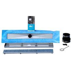 AlinO Linear Shower Drain 42-inch (Square - Nickel)