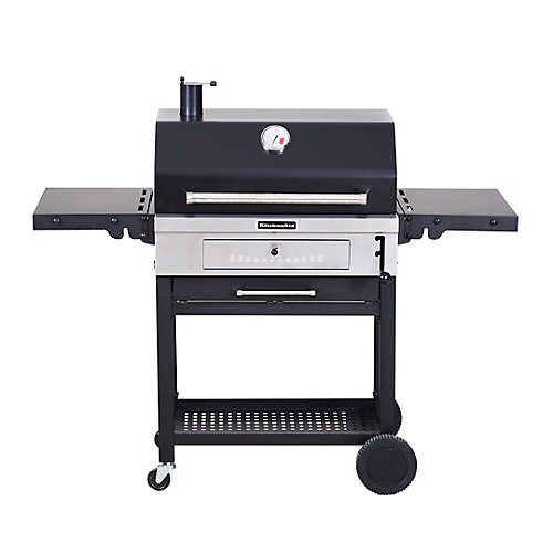 Heavy Duty Charcoal BBQ in Black