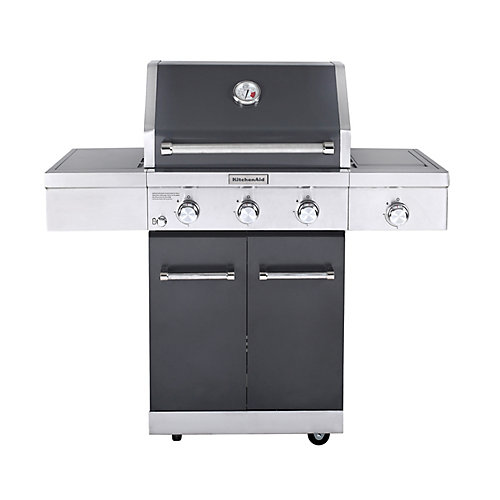 3-Burner Outdoor Gas BBQ with Ceramic Infrared Sear Burner in Slate