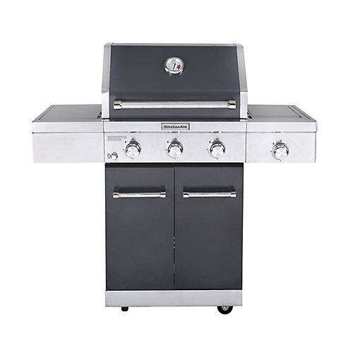 3-Burner Outdoor Propane BBQ with Ceramic Infrared Sear Burner in Slate