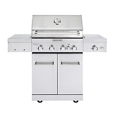 4-Burner Outdoor Gas BBQ with Sear Burner and Rotisserie Burner