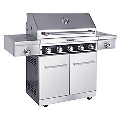 5-Burner Outdoor Gas BBQ with Sear & Side Burner & Pvc Cover